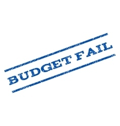 Budget Fail Watermark Stamp vector