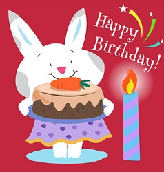 Bunnys birthday vector