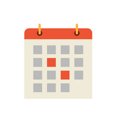 Calendar dates and days icon vector
