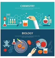 chemistry and biology education concept vector image