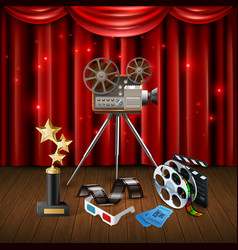 cinema realistic background vector image