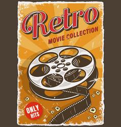 cinema vintage poster vector image