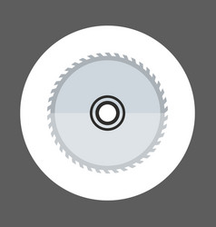 Circular saw icon working hand tool equipment vector