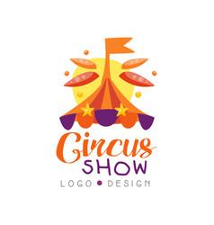 Circus show logo design carnival festive circus vector
