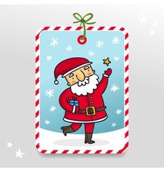 Cute Santa Claus gift tag vector image