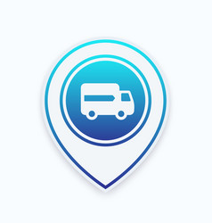 delivery icon on marker vector image