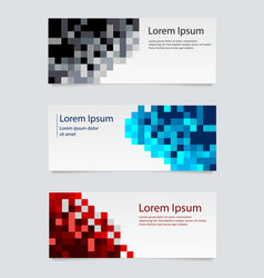 design banner background set horizontal vector image