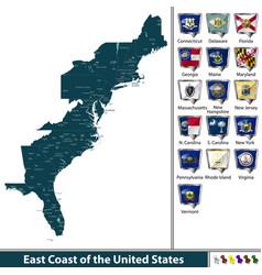 east coast united states vector image