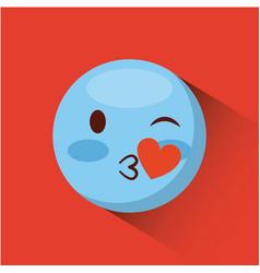 emoticon face icon vector image