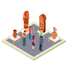 exhibition antiquities art gallery isometric vector image