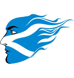 face of Scottish men vector image