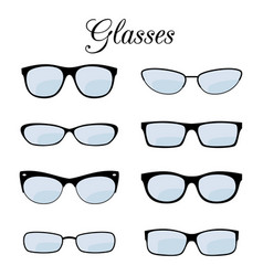 fashion glasses set isolated on white vector image