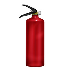 fire extinguisher 3d realistic vector image