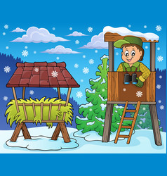 Forester winter theme 4 vector