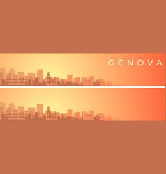 Genoa beautiful skyline scenery banner vector