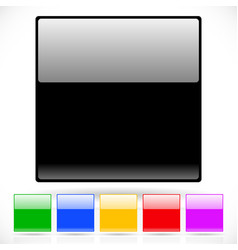 Glossy regular square icon backgrounds vector