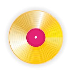 Golden vinyl lp gold template design element vector