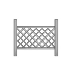 grid of wooden fence icon monochrome vector image