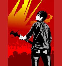 guitarist at a concert vector image