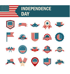 happy independence day american flag national vector image