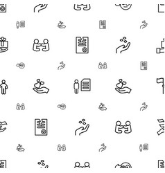 Holding icons pattern seamless white background vector