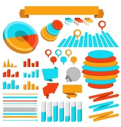 infographics elements collection vector image