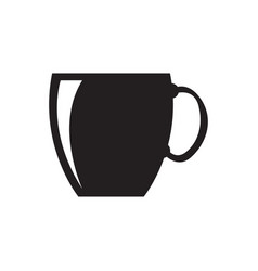 isolated cup silhouette vector image