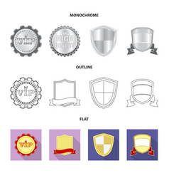 Isolated object of emblem and badge logo set of vector