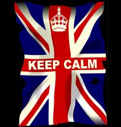 keep calm union jack vector image