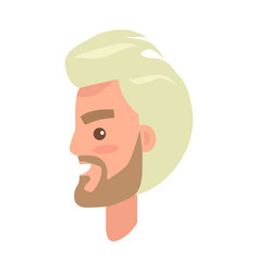 Man s face from sideview isolated vector