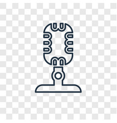 microphone concept linear icon isolated on vector image