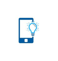 Mobile idea logo icon design vector
