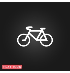 Mountain bike flat icon vector