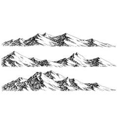 Mountains ranges panorama vector