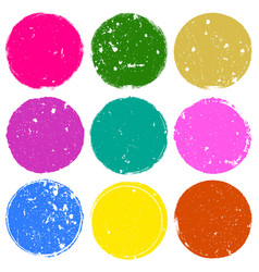 nine color stamps vector image