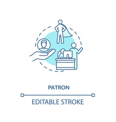 Patron concept icon vector