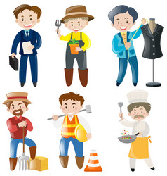 people doing different kinds of jobs vector image