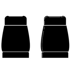 Pepper box or pepper pot or salt cellar icon vector