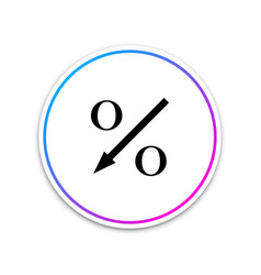 percent down arrow icon isolated on white vector image