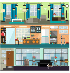 plumbing moving and delivery services interior vector image