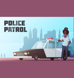 Police patrol vector
