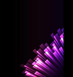 purple pink overlap stripe rush in dark background vector image