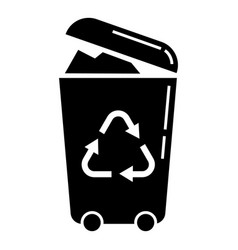 recycle trash can icon simple style vector image