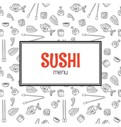 Restaurant sushi menu design Menu template with vector