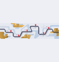 road map and journey route infographics template vector image
