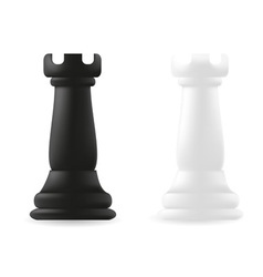Rook chess piece black and white vector