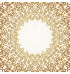 Round gold luxury style border vector