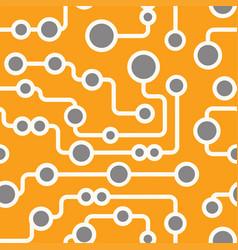 seamless retro circuit pattern vector image