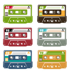Set tape cassette vector