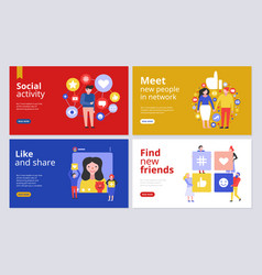 social media concept banners vector image